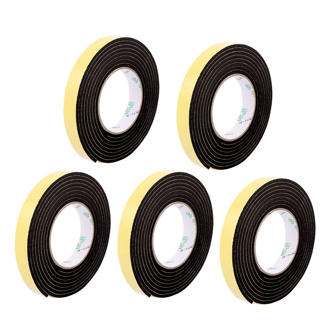 5 Pcs 20mmx4mm Single Sided Sponge Tape Adhesive Sticker Foam Glue Strip Sealing 3 Meters 10Ft