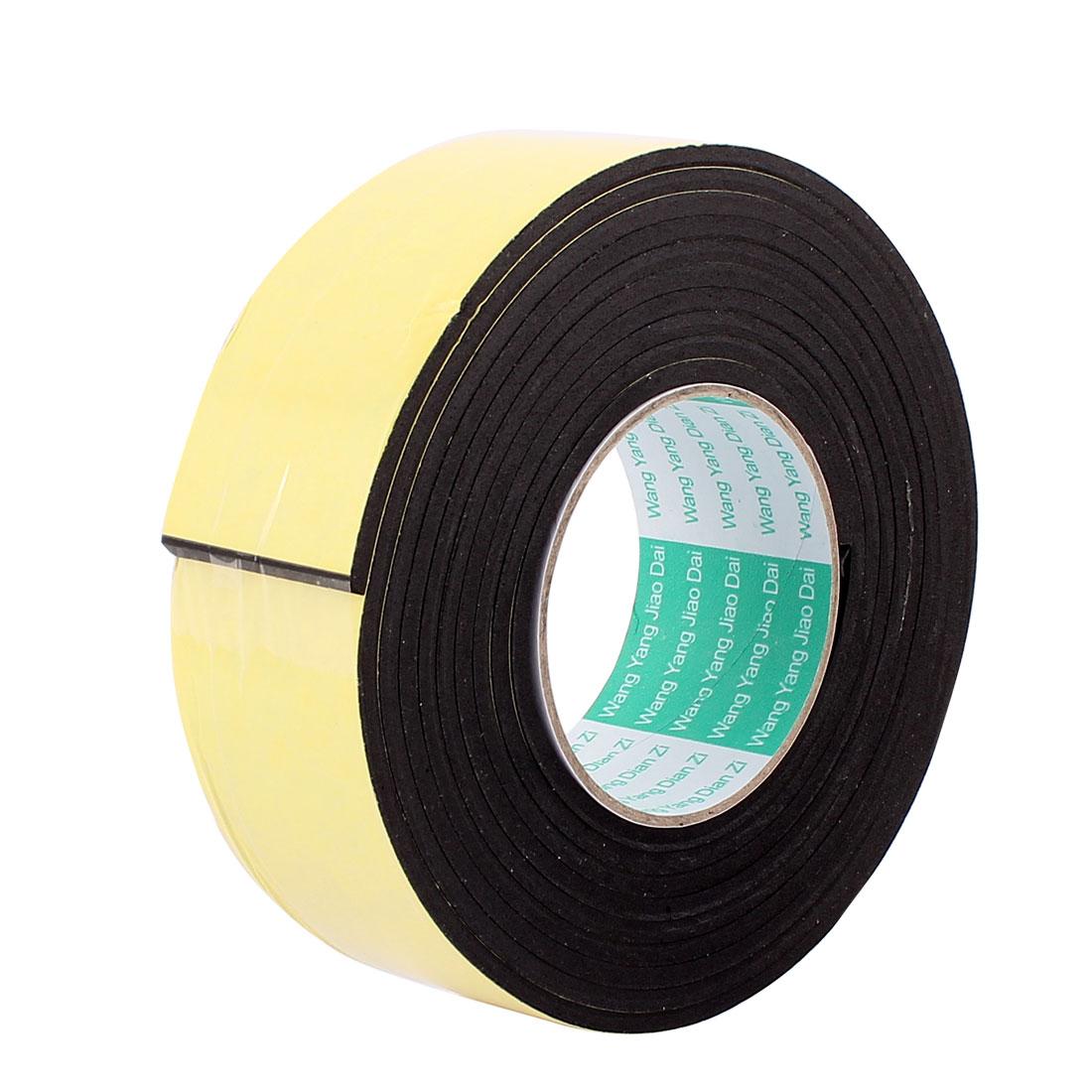 50mmx4mm Single Sided Sponge Tape Adhesive Sticker Foam Glue Strip Sealing 3 Meters 10Ft