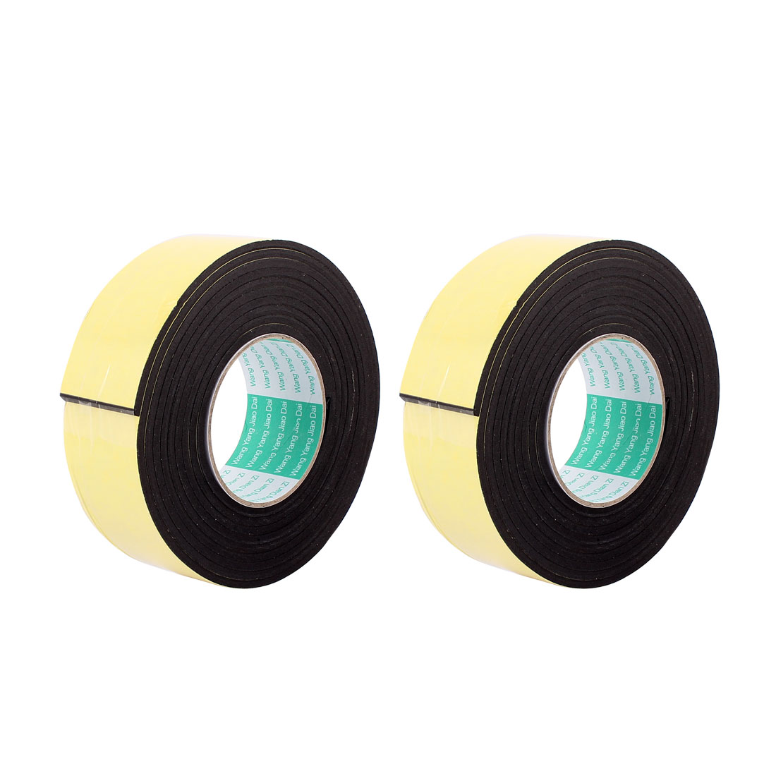 2 Pcs 50mmx4mm Single Sided Sponge Tape Adhesive Sticker Foam Glue Strip Sealing 3 Meters 10Ft