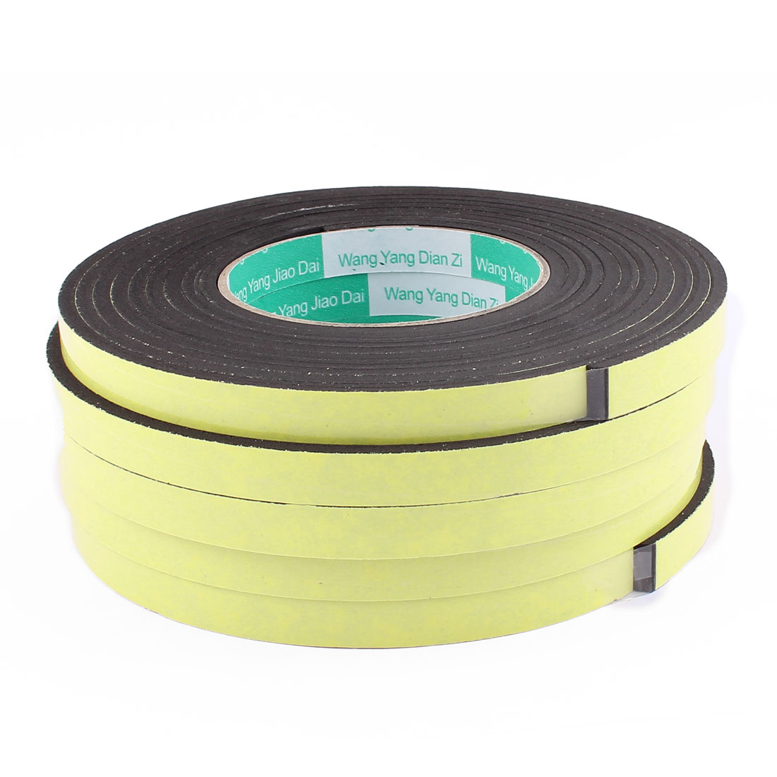 5 Pcs 12mmx4mm Single Sided Sponge Tape Adhesive Sticker Foam Glue Strip Sealing 3 Meters 10Ft