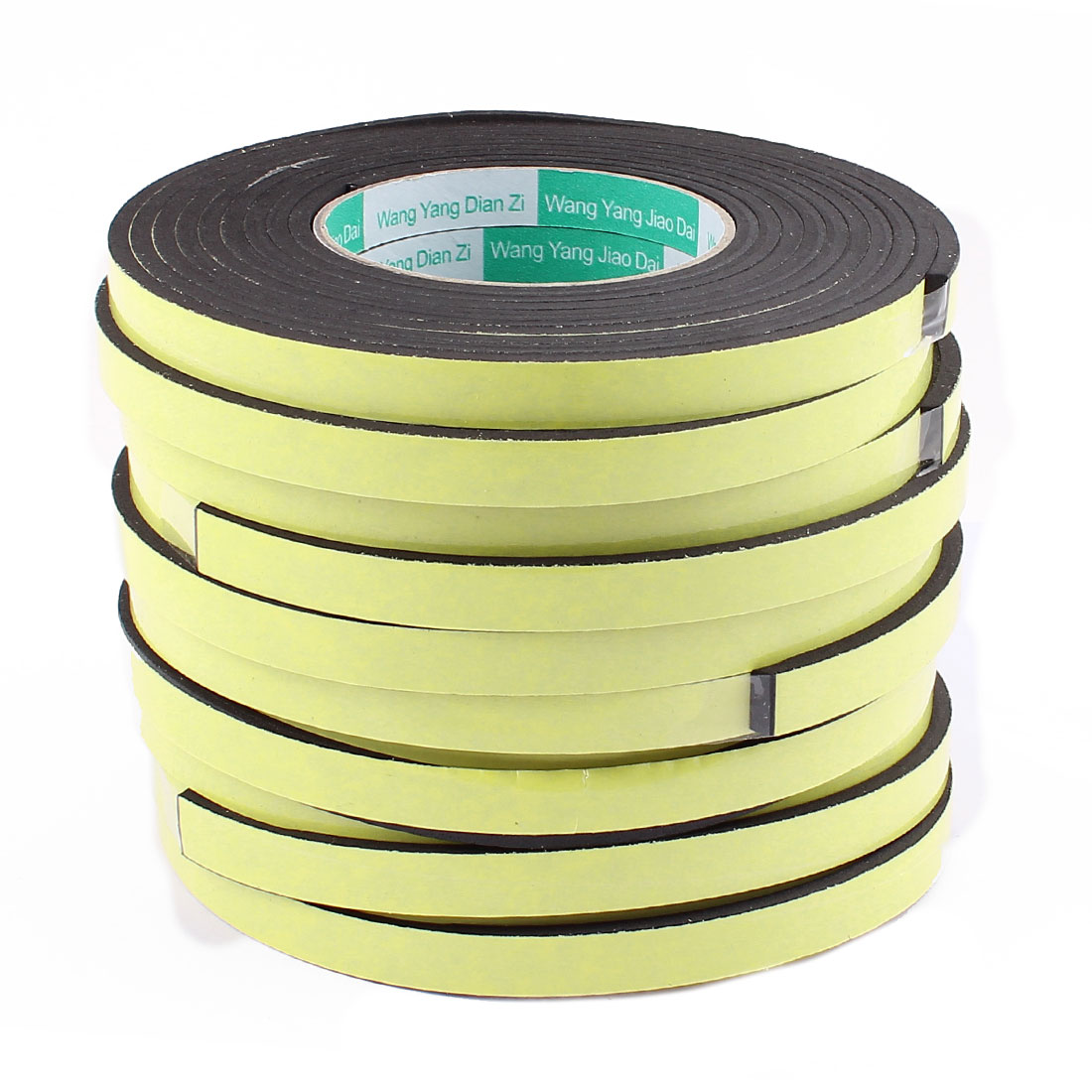 10 Pcs 12mmx4mm Single Sided Sponge Tape Adhesive Sticker Foam Glue Strip Sealing 3 Meters 10Ft