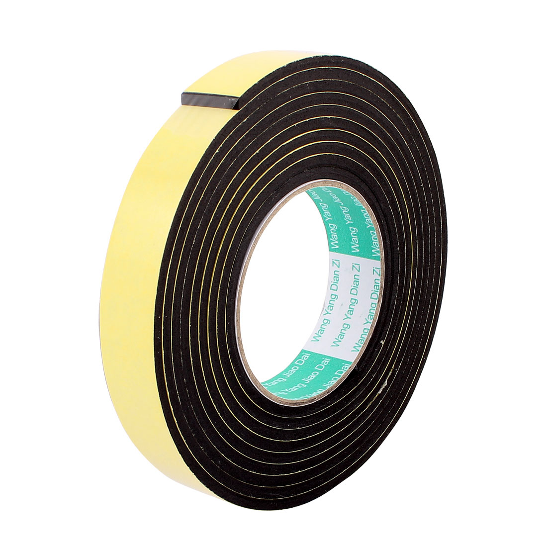 25mmx4mm Single Sided Sponge Tape Adhesive Sticker Foam Glue Strip Sealing 3 Meters 10Ft