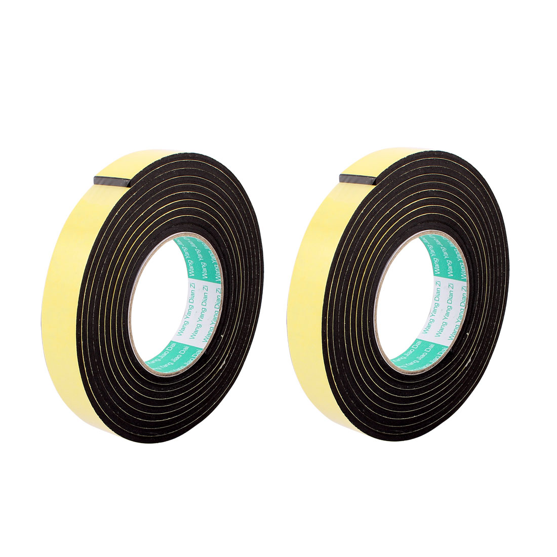 2 Pcs 25mmx4mm Single Sided Sponge Tape Adhesive Sticker Foam Glue Strip Sealing 3 Meters 10Ft