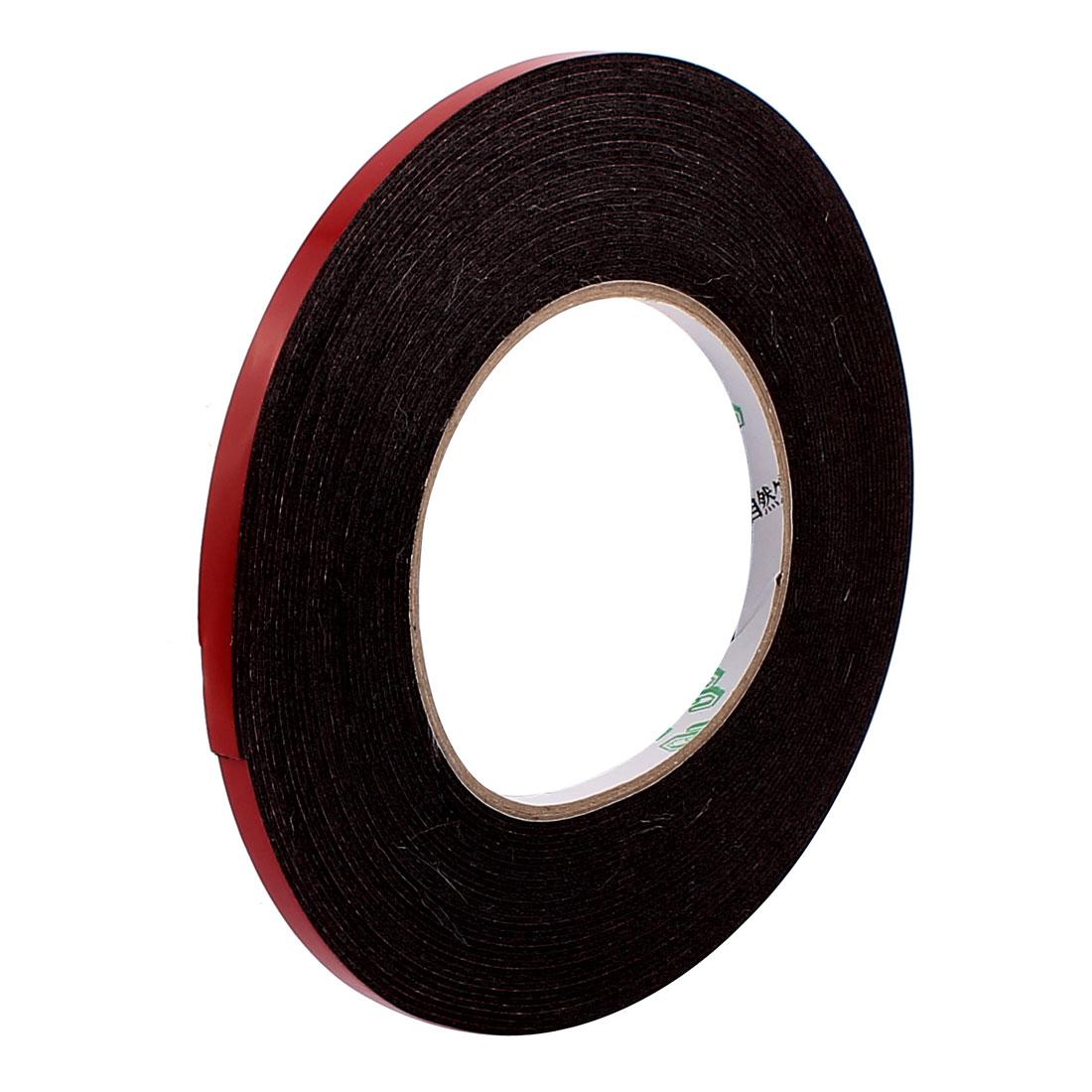 6mmx1mm Double Sided Sponge Tape Adhesive Sticker Foam Glue Strip Sealing 10 Meters 33Ft