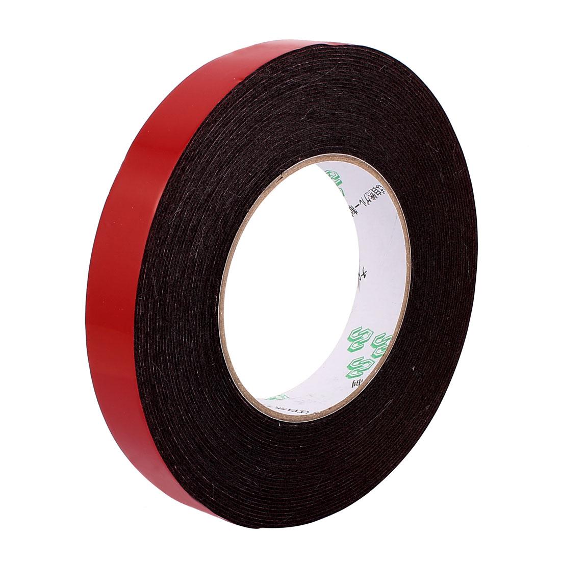 20mmx1mm Double Sided Sponge Tape Adhesive Sticker Foam Glue Strip Sealing 10 Meters 33Ft