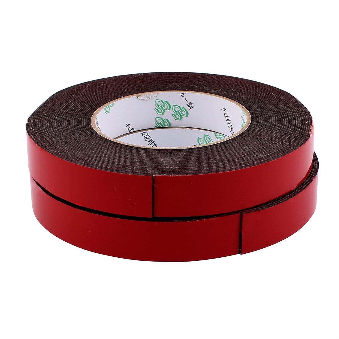 2 Pcs 20mmx1mm Double Sided Sponge Tape Adhesive Sticker Foam Glue Strip Sealing 10 Meters 33Ft