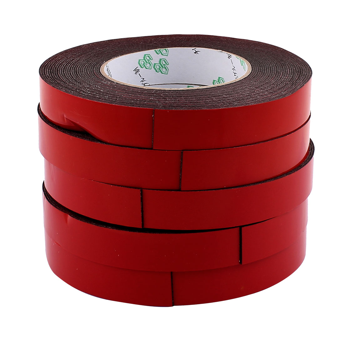 5 Pcs 20mmx1mm Double Sided Sponge Tape Adhesive Sticker Foam Glue Strip Sealing 10 Meters 33Ft