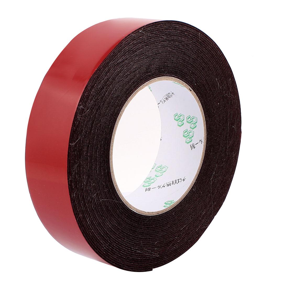 35mmx1mm Double Sided Sponge Tape Adhesive Sticker Foam Glue Strip Sealing 10 Meters 33Ft