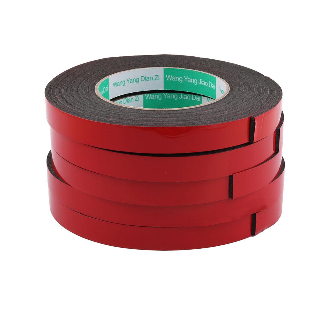 5Pcs 1.5CM Width 5M Length 2MM Thick Dual Sided Sealing Shockproof Sponge Tape