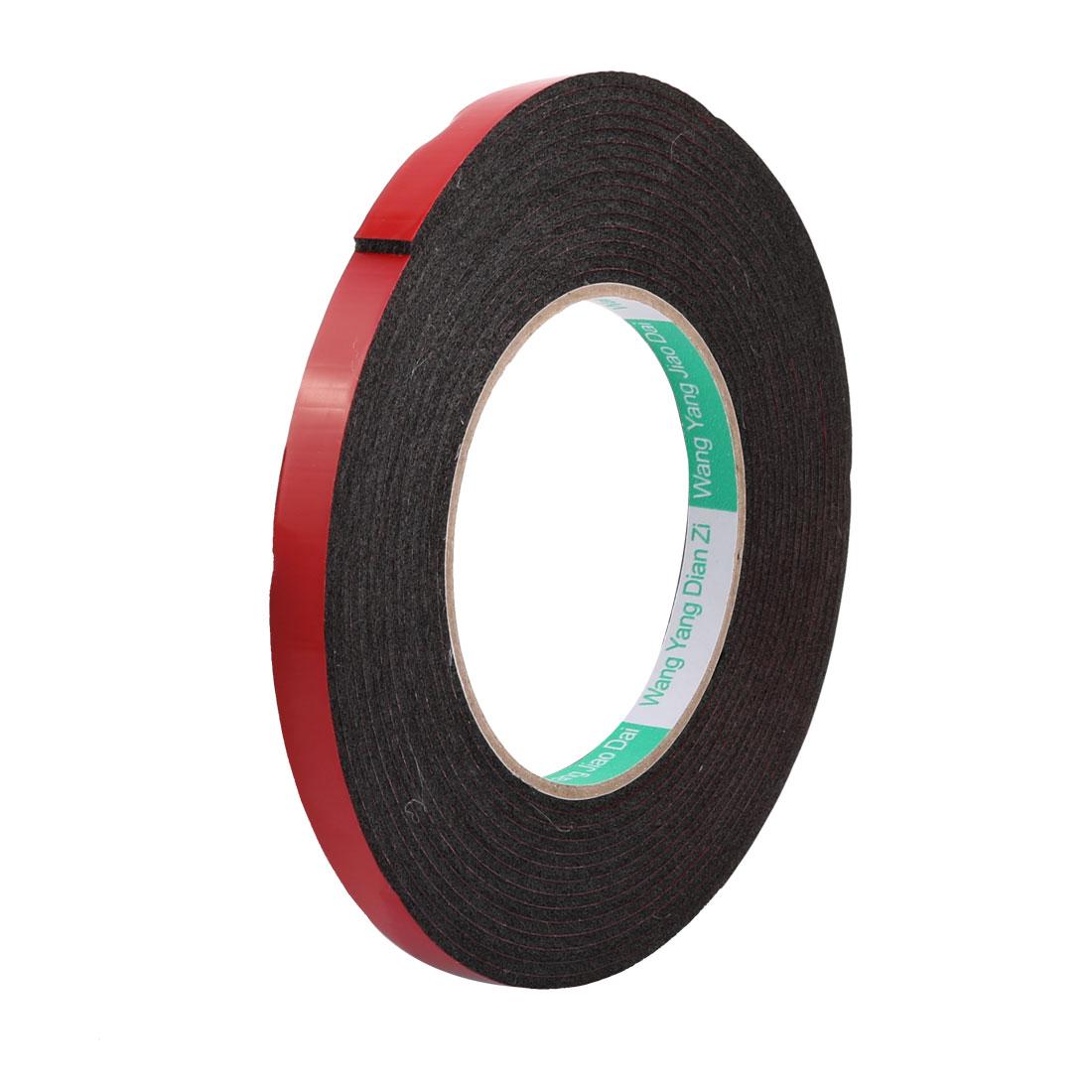 10mmx2mm Double Sided Sponge Tape Adhesive Sticker Foam Glue Strip Sealing 5 Meters