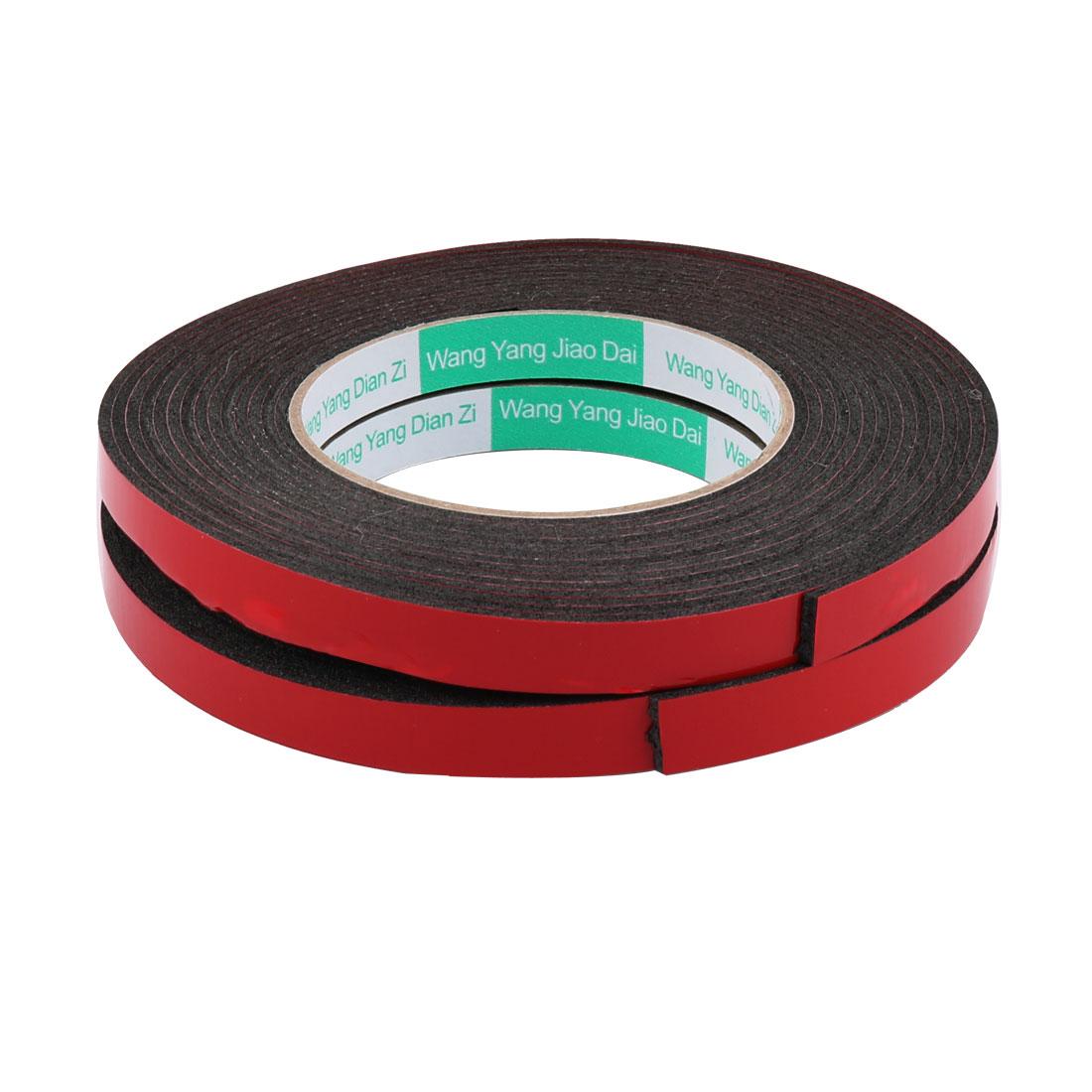 2pcs 1.2CM Width 5 Meters Length 2MM Thick Dual Sided Sealing Shockproof Sponge Tape