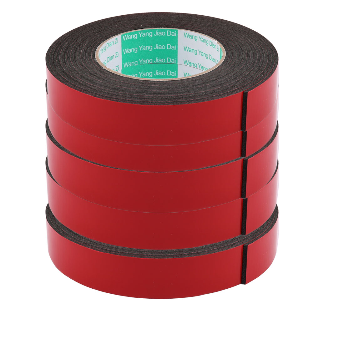 5pcs 2.5CM Width 5 Meters Length 2MM Thick Dual Sided Sealing Shockproof Sponge Tape
