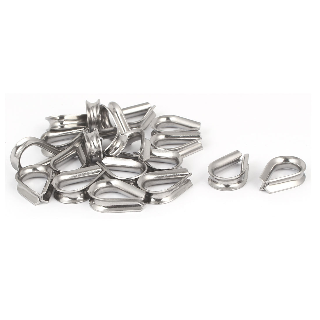 Rigging Hardware 304 Stainless Steel M4 Standard Wire Rope Cable Thimble 20pcs