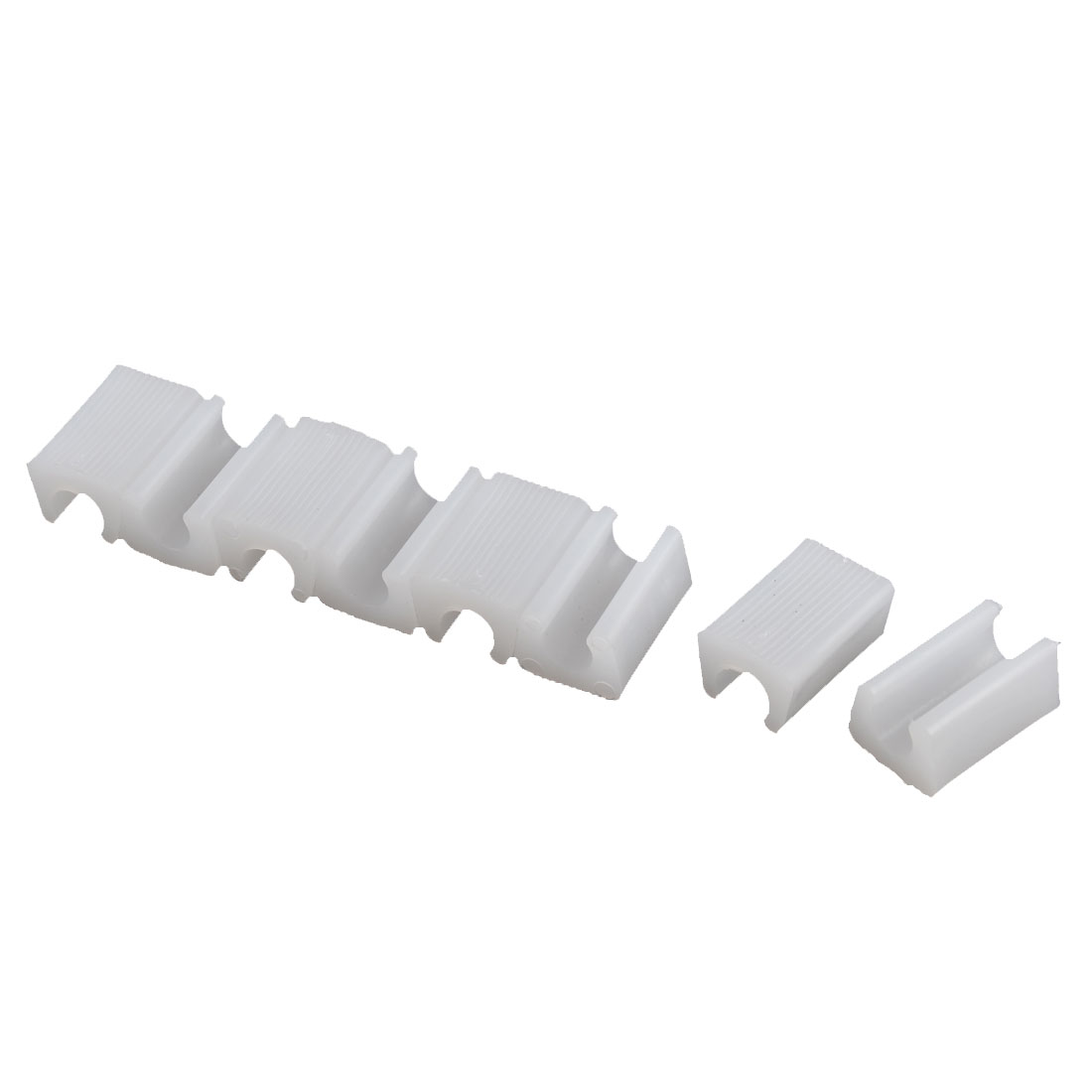 Chair Foot Plastic Floor Glides Tubing Caps Cover Protector White 10mm Dia 8 Pcs