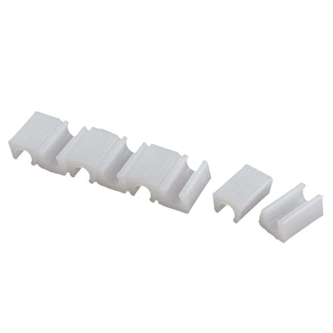 Furniture Chair Foot Plastic Floor Glides Tubing Caps Bungs White 12mm Dia 8 Pcs