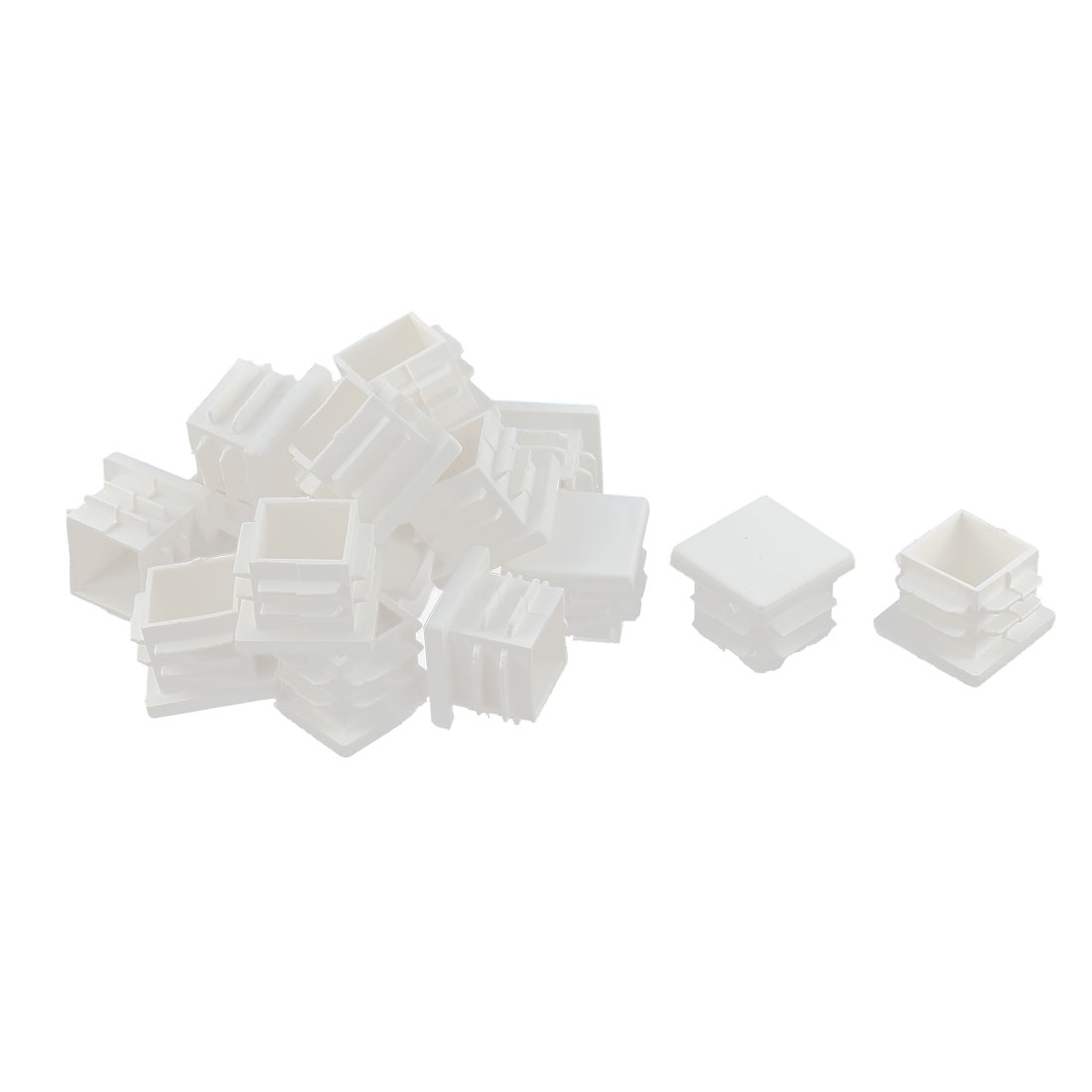 Table Chair Legs Feet Box Section Plastic Square Tube Inserts White 16pcs