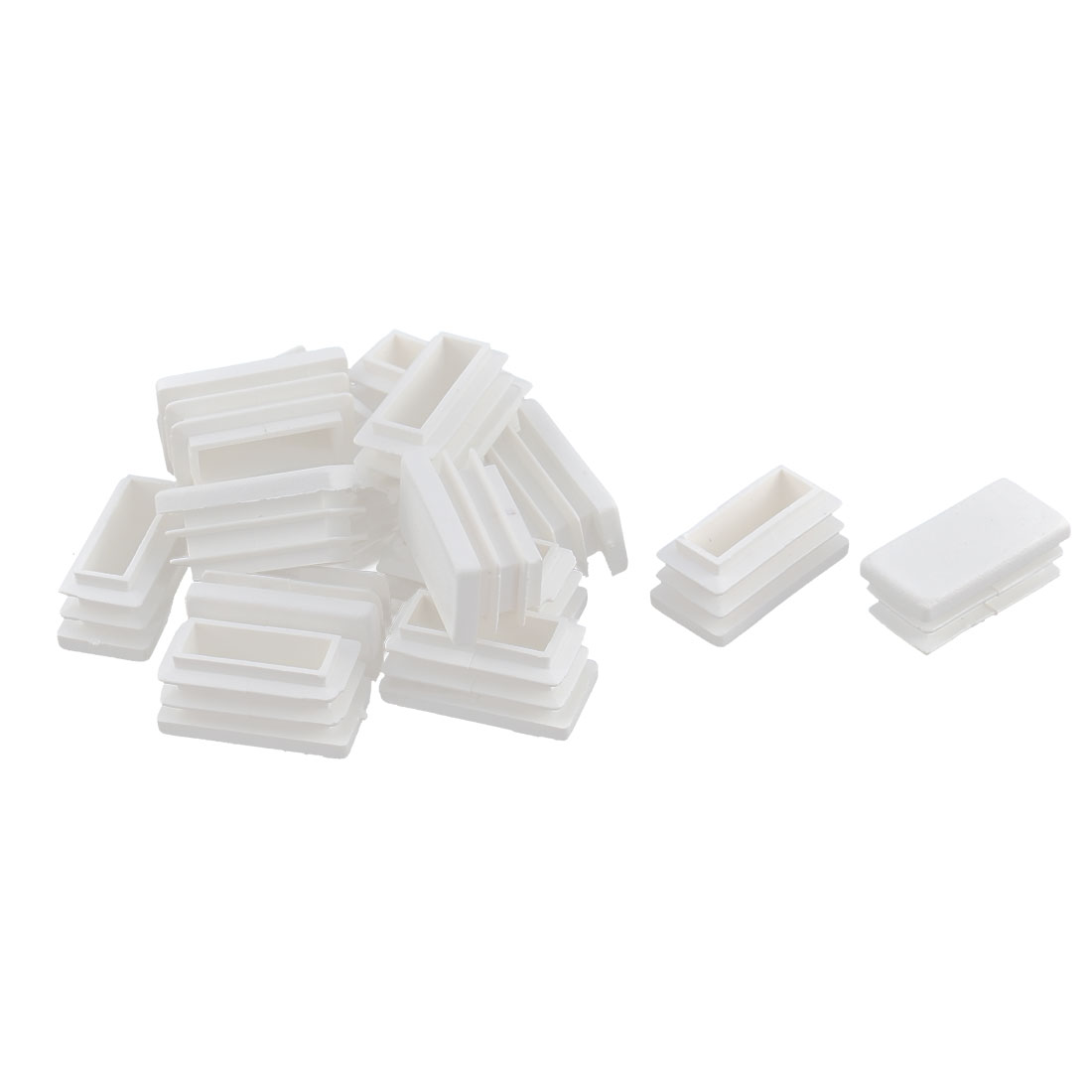 Chair Table Legs Box Section Plastic Rectangle Tube Inserts White 16pcs