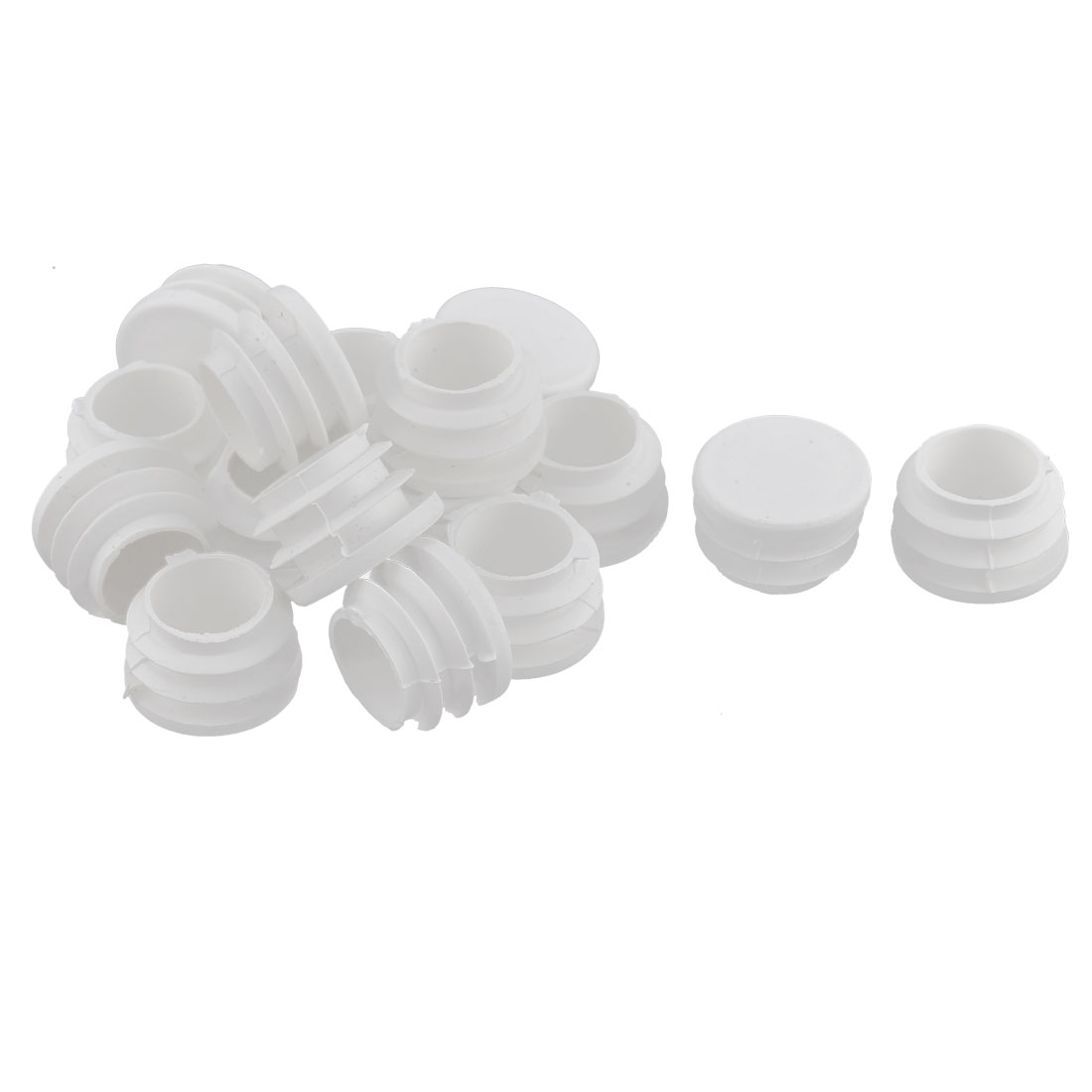 Furniture Feet Legs Plastic Round Shaped Tube Inserts End Blanking Caps 16pcs