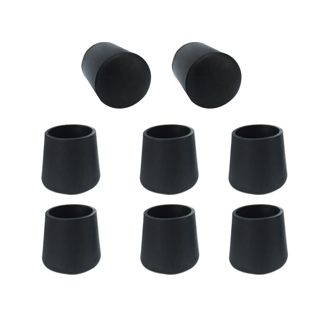Furniture Table Desk Foot Leg Rubber Cylinder Protectors Cover 21mm Dia 8pcs