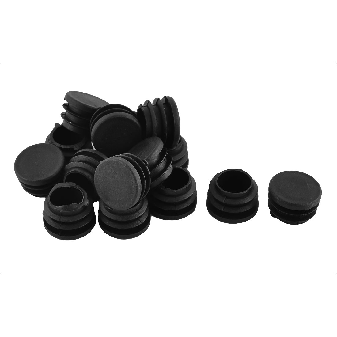 Home Furniture Legs Plastic Round Tube Insert End Caps Covers 25mm Dia 16pcs
