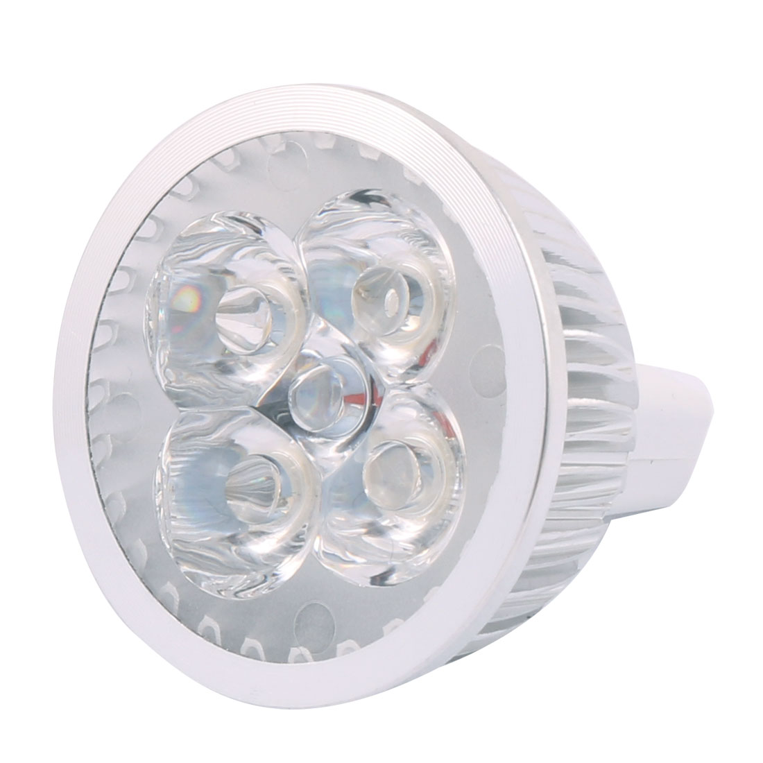 DC 12V 4W MR16 4 LEDs Ultra Bright COB Spotlight Bulb Energy Saving Downlight Cool White