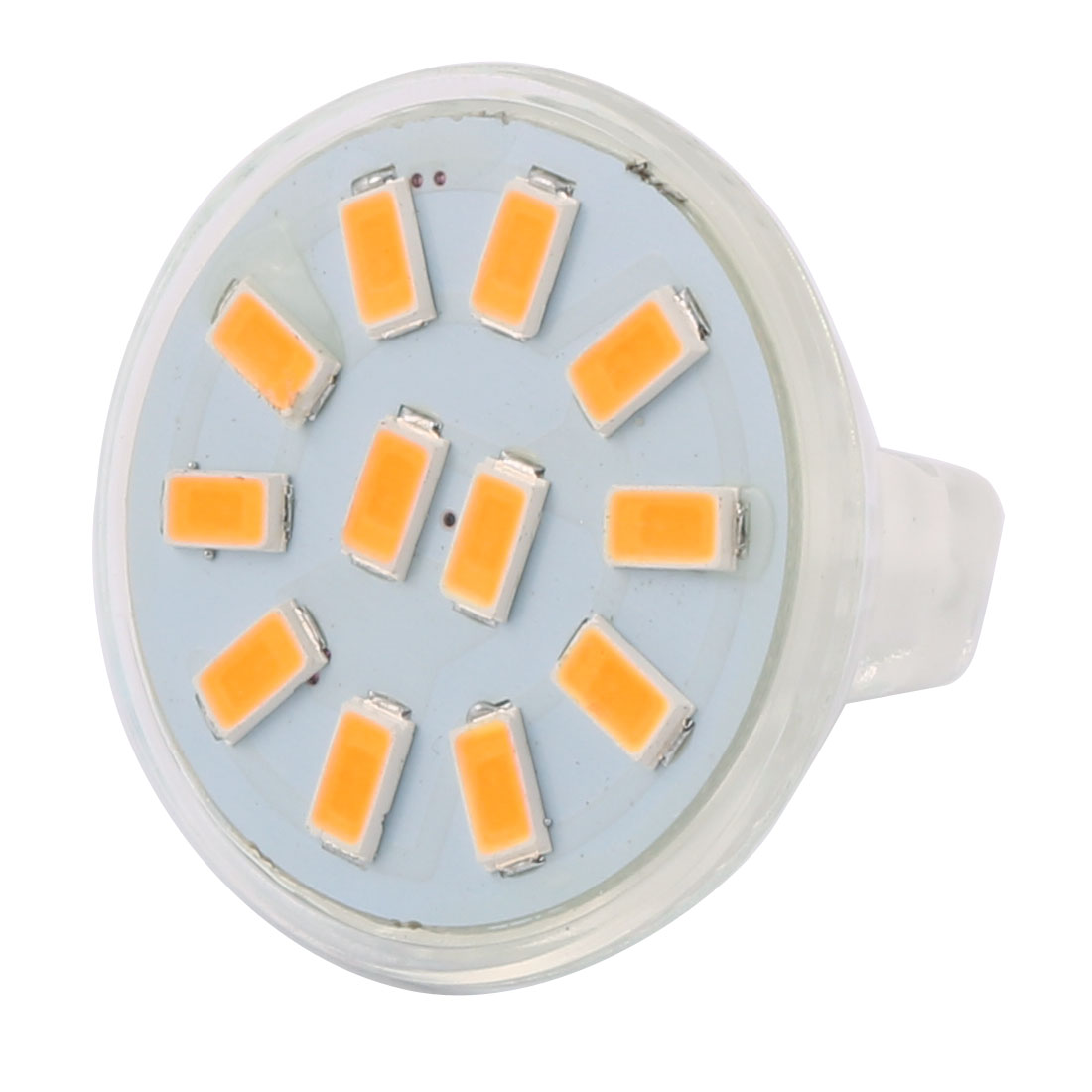 DC 12V 3W MR11 5733 SMD 12 LEDs LED Bulb Light Spotlight Lamp Lighting Warm White