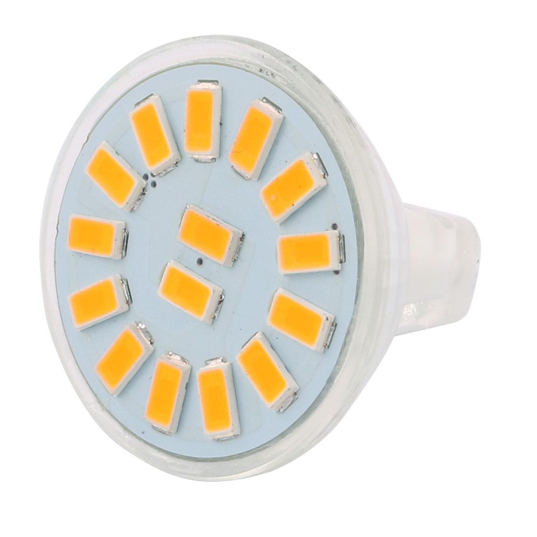 DC 12V 4W MR11 5733 SMD 15 LEDs LED Bulb Light Spotlight Lamp Lighting Warm White