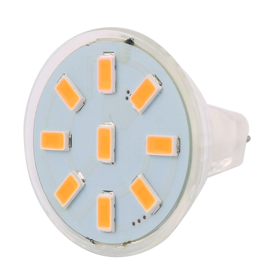 12-30V 2W MR11 5730 SMD 9 LEDs LED Bulb Light Spotlight Lamp Lighting Warm White