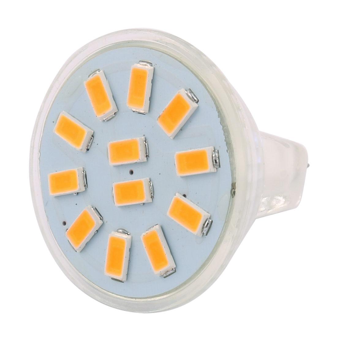 12-30V 3W MR11 5730 SMD 12 LEDs LED Bulb Light Spotlight Lamp Lighting Warm White
