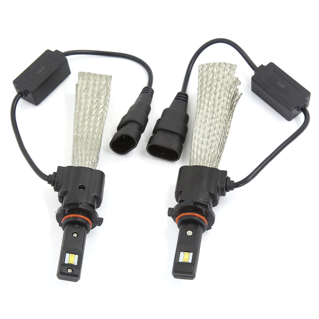 2PCS 9005 6000K White 30W 3200LM LED Headlight Conversion Kit w Copper Braid
