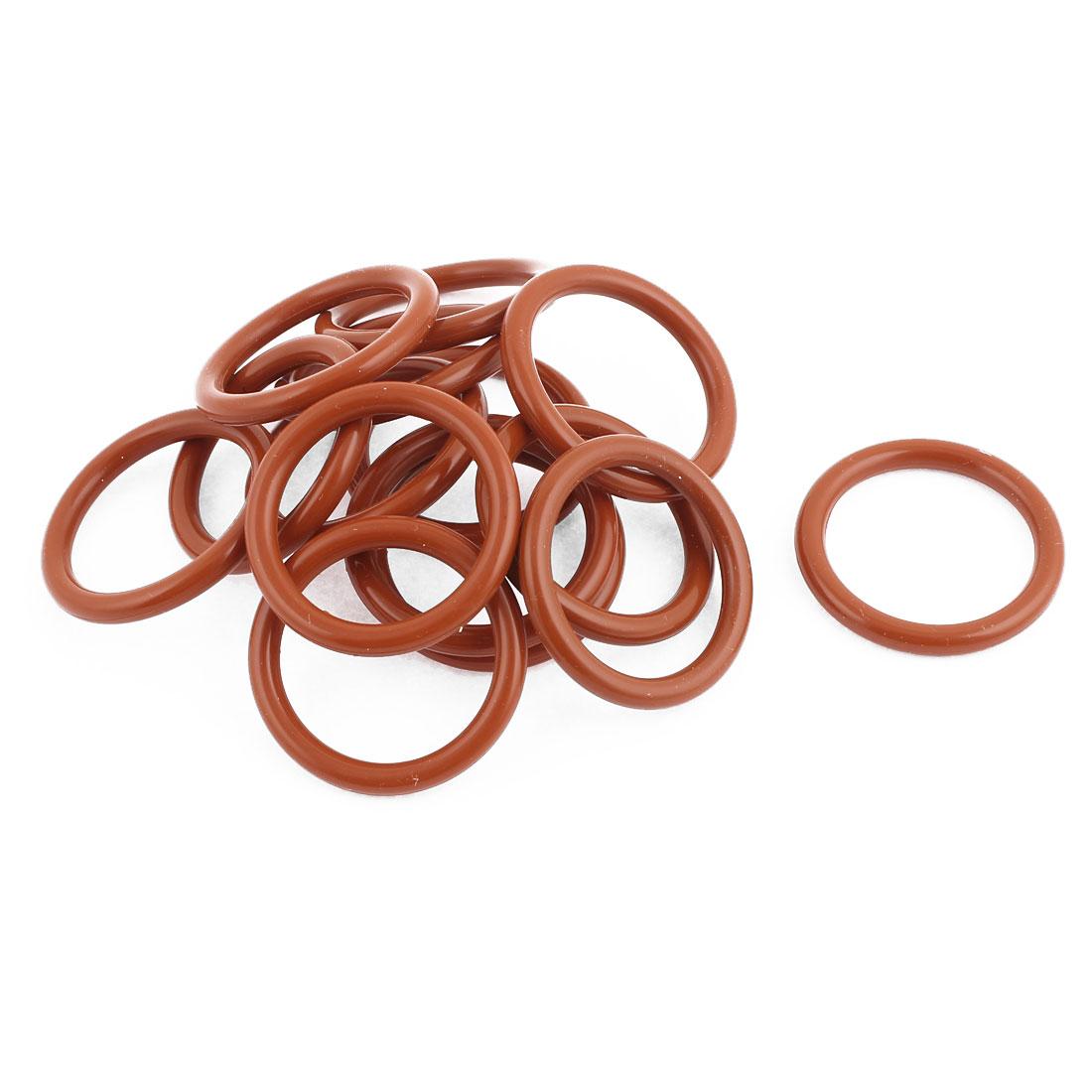 35mm OD x 27mm ID x 4mm H Sealing Ring Black Rubber O Type 15 Pcs