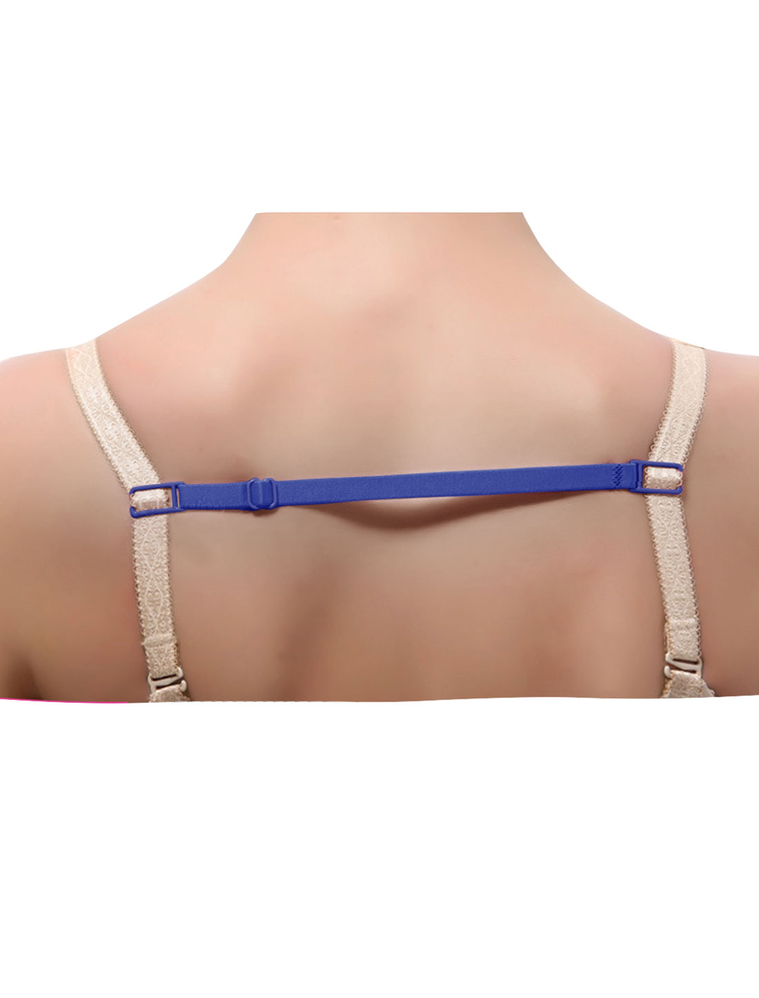 Women Elastic Band Non-Slip Adjustable Bra Straps Holder 10 Pcs Blue