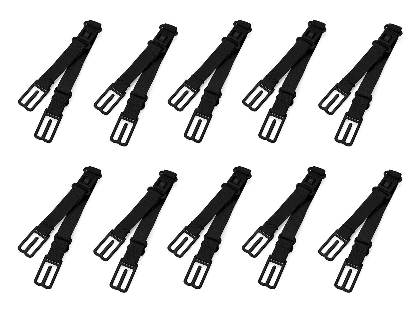 Women Elastic Band Non-Slip Adjustable Bra Straps Holder 10 Pcs Black