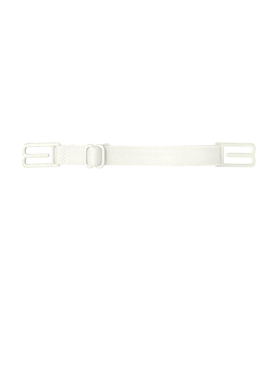 Women Elastic Band Non-Slip Adjustable Bra Straps Holder 10 Pcs White