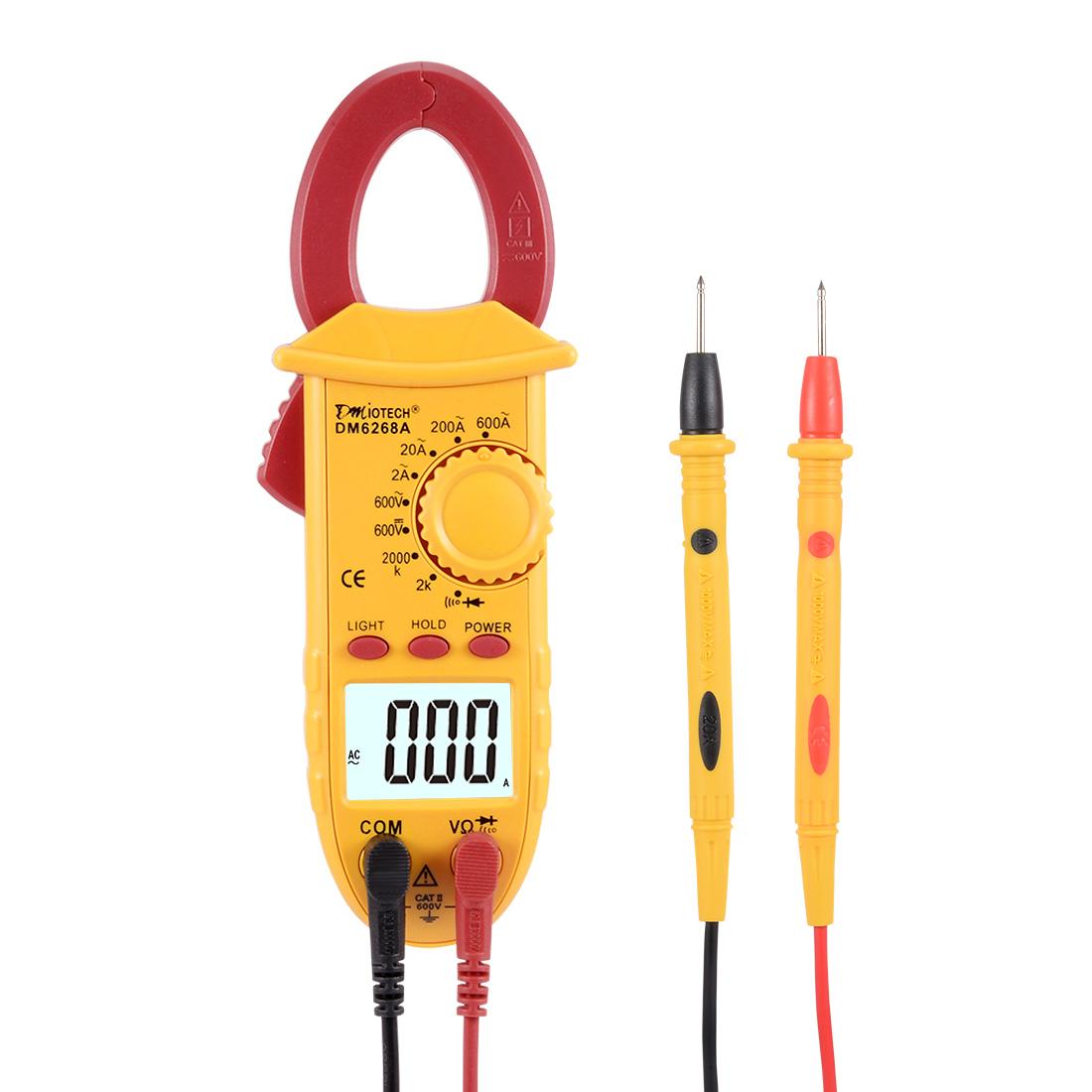 Mini Digital Multimeter Ammeter Voltage ACV DCV Ohm Clamp Meter Tester Handheld Red