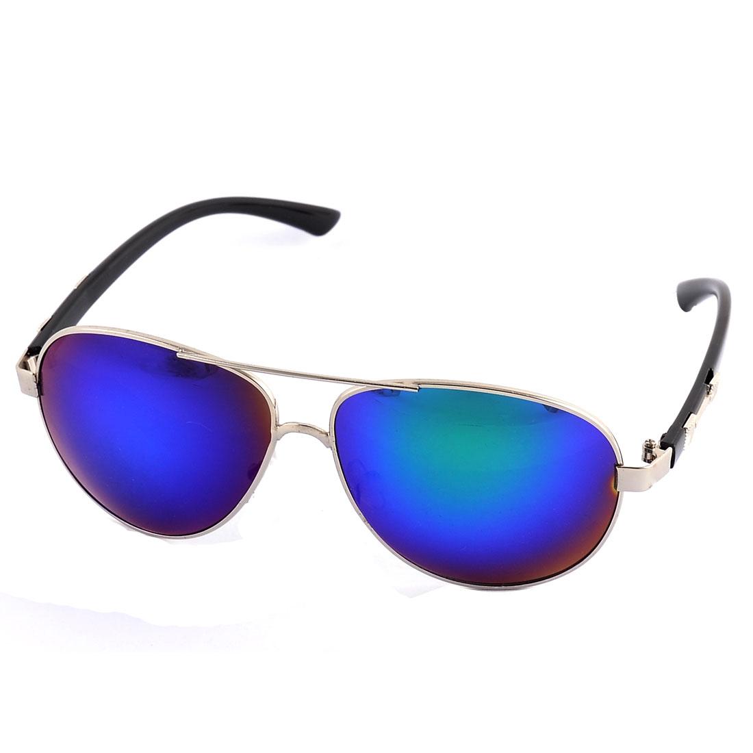 Outdside Full Rim Sun Protection Plastic Arm Single Bridge Black Lens Sunglasses