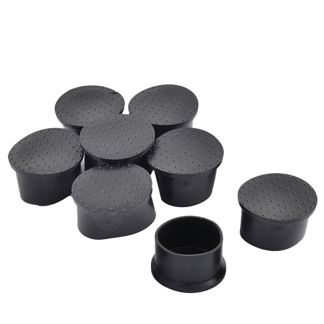 Home Rubber Anti Slip Furniture Table Desk Chair Leg Tips Pads Tool 60mm Base Dia 8pcs
