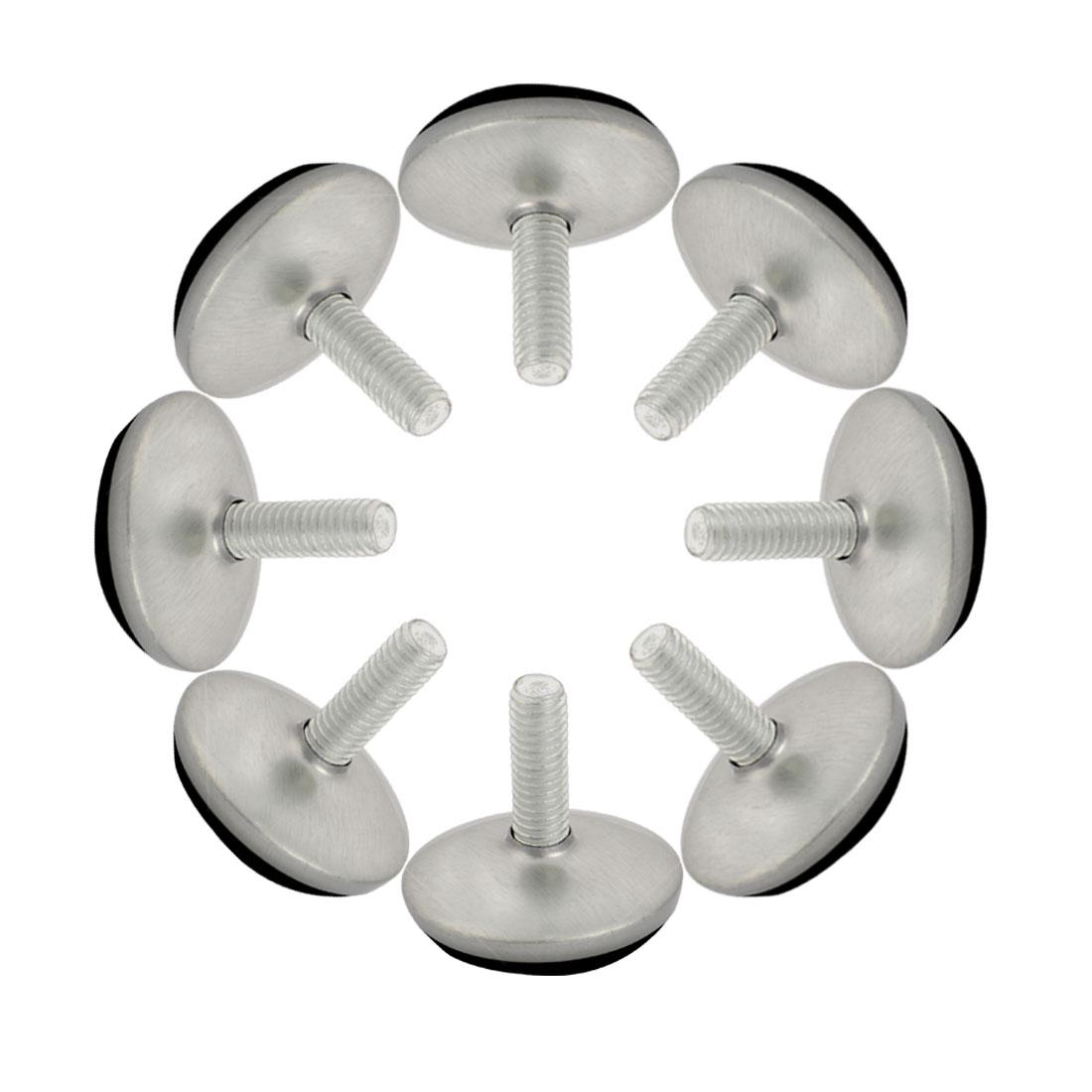 Home Metal Adjustable Furniture Table Desk Glide Leveling Foot Adjuster Pad Tool 28mm Base Dia 8pcs