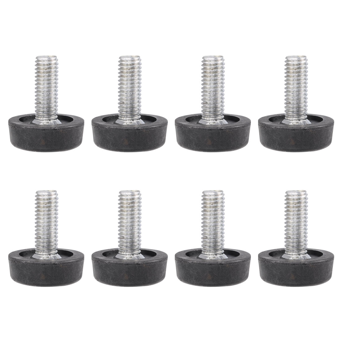 Home Metal Adjustable Furniture Table Desk Glide Leveling Foot Adjuster Pad Tool 23mm Base Dia 8pcs