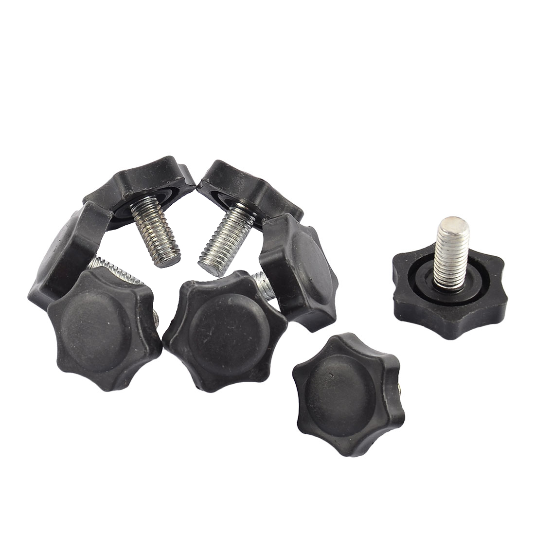 Home Plum Shaped Adjustable Furniture Glide Leveling Foot Adjuster Pad Tool 30mm Base Dia 8pcs