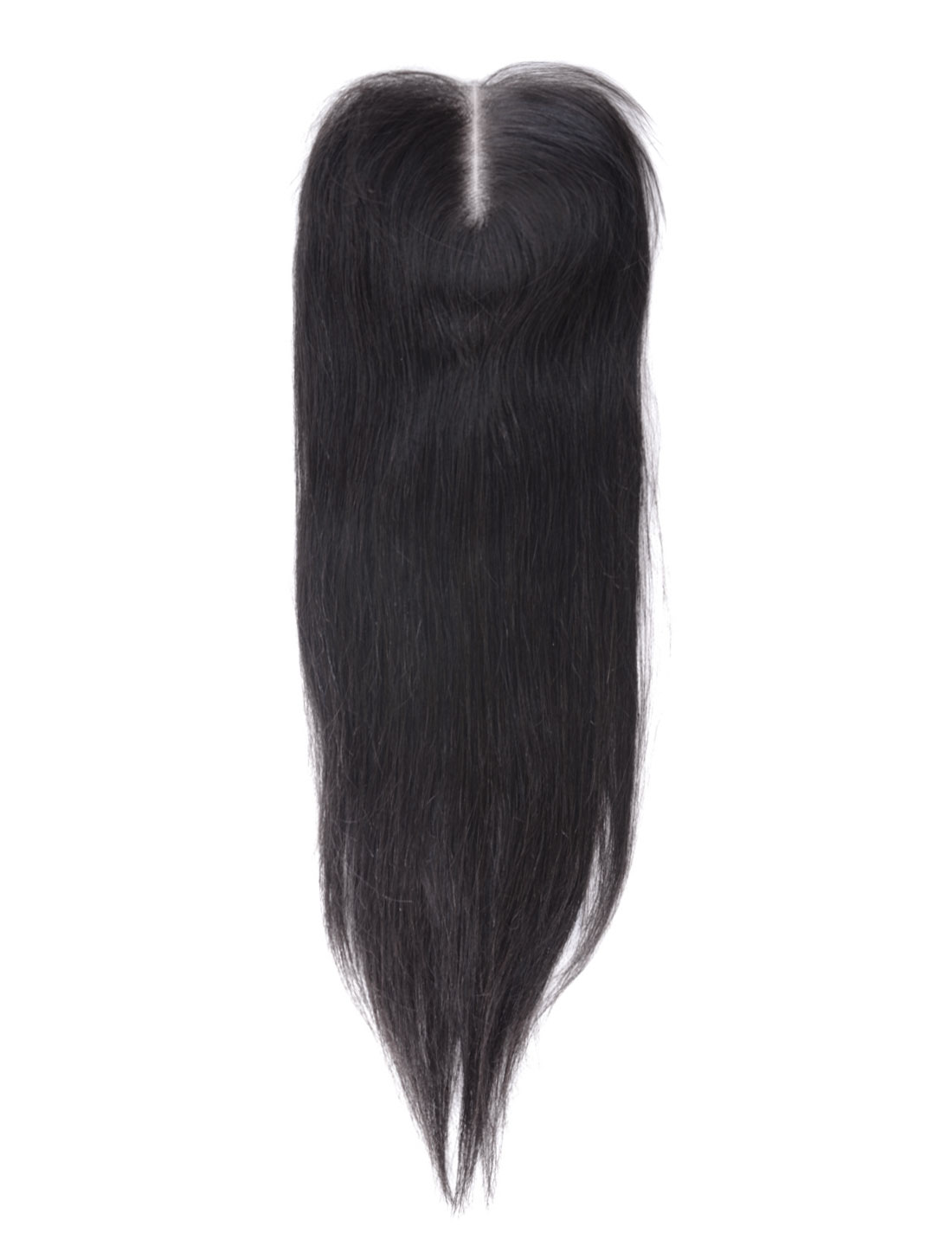 "14"" 4x4 Front Top Invisible Lace Closure Middle Part Brazilian Peruvian Straight Hair"