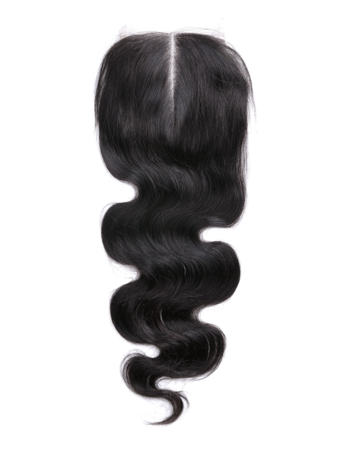 "10"" 4x4 Front Top Invisible Lace Closure Middle Part Brazilian Peruvian Body Wave"