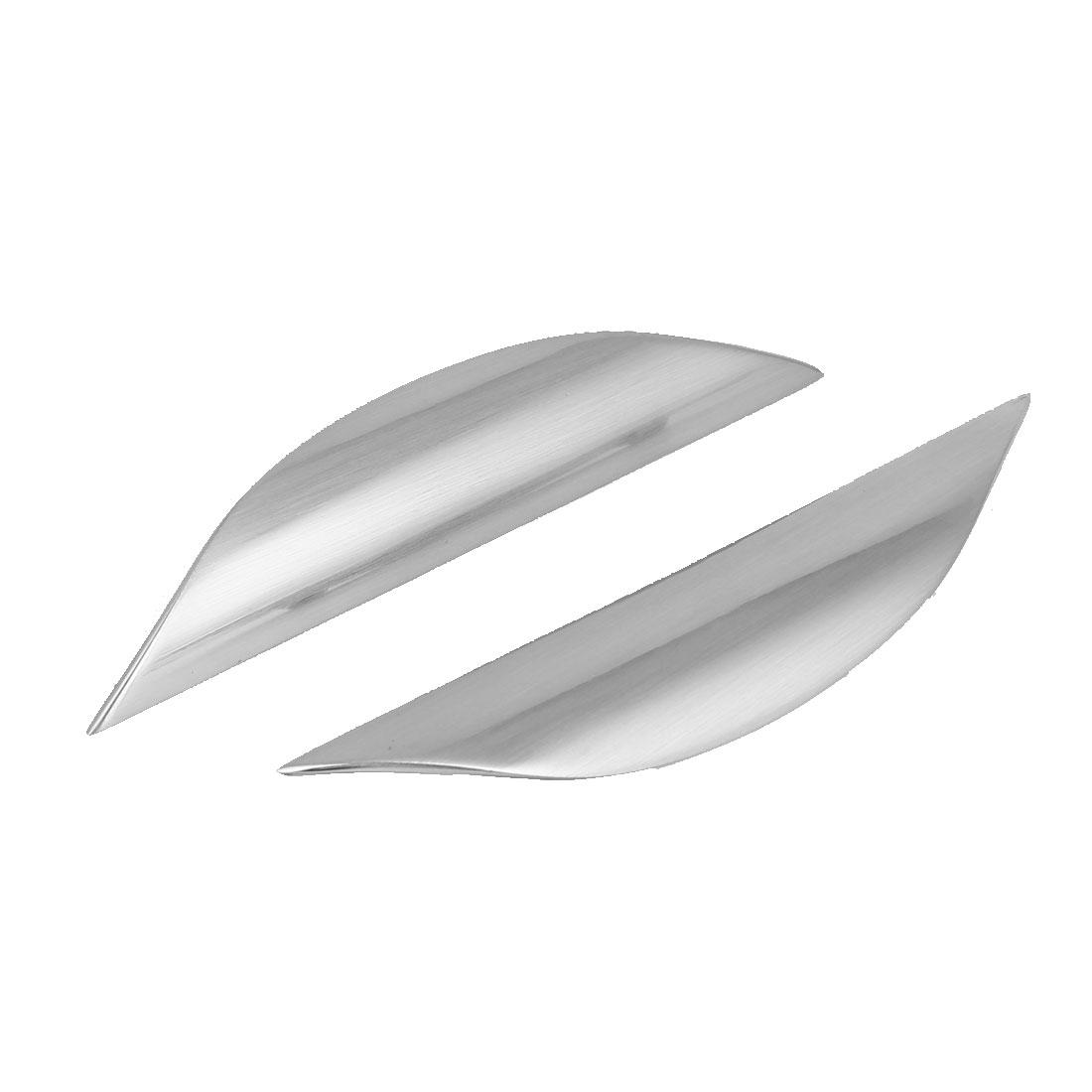 Drawer Cabinet Closet Zinc Alloy Pull Handle Grip Silver Tone 129mm Long 2pcs
