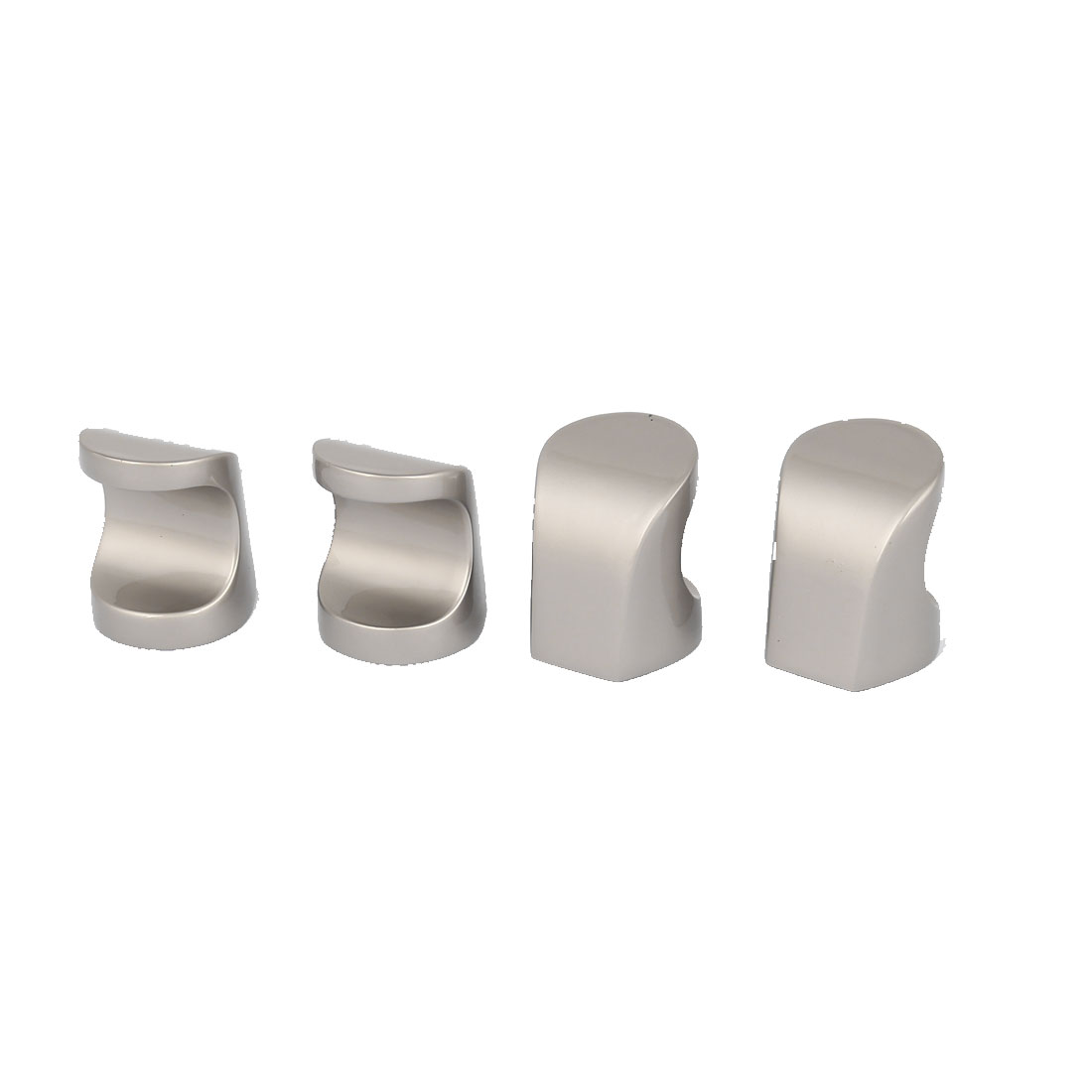 Kitchen Drawer Cabinet Cupboard Hardware Zinc Alloy Pull Handle Silver Tone 6pcs