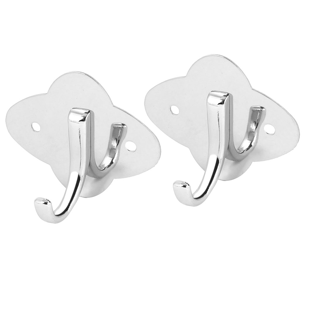 Bedroom Clothes Coat Single Hanger Stainless Steel Wall Mount Hanging Hook 2pcs