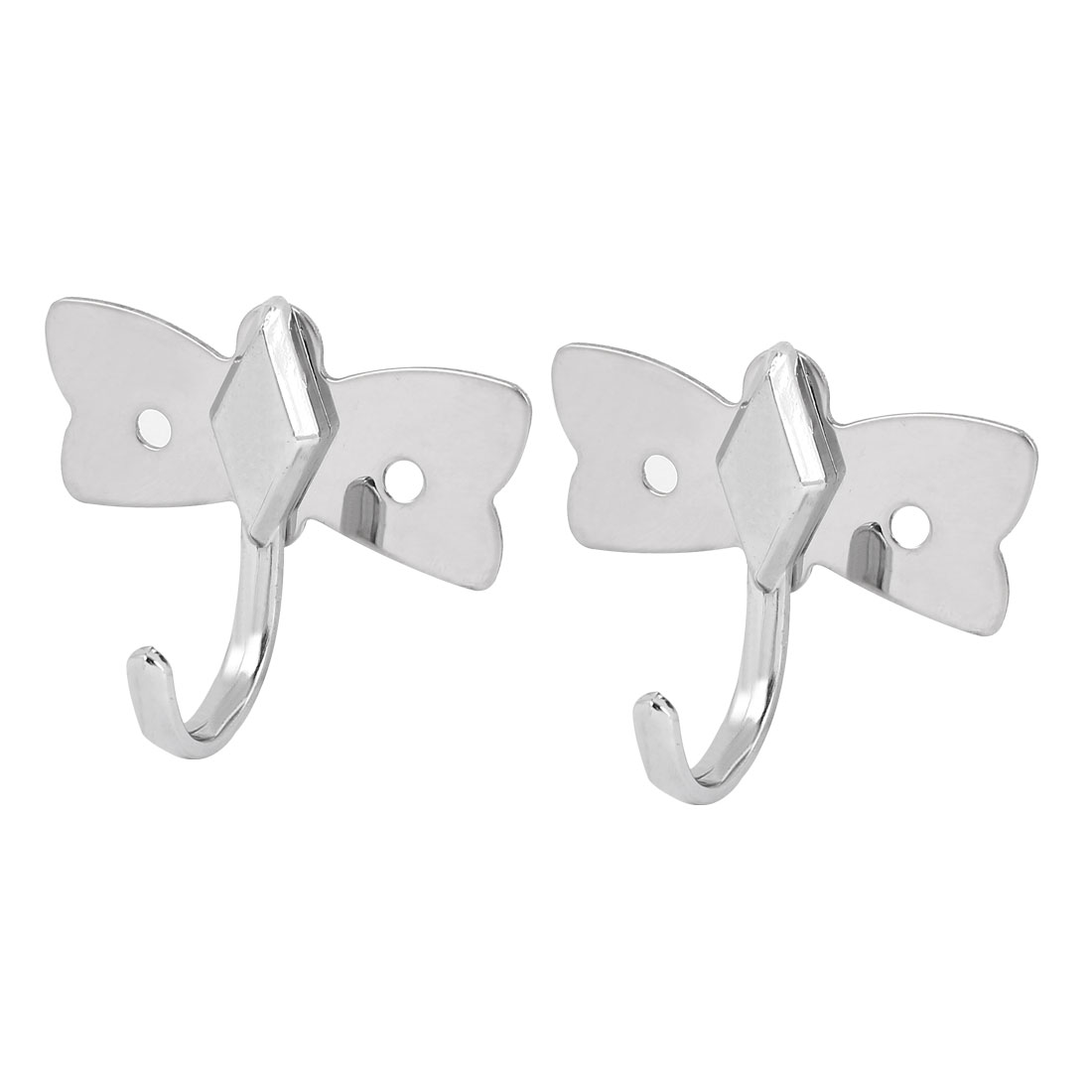 Bathroom Clothes Hat Single Hanger Stainless Steel Wall Hanging Hook 2pcs