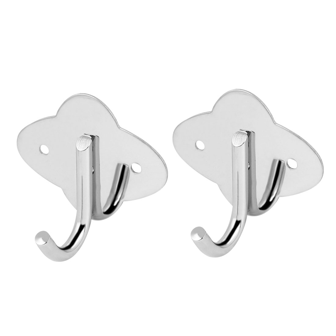 Bedroom Clothes Scarf Single Hanger Stainless Steel Wall Mount Hanging Hook 2pcs