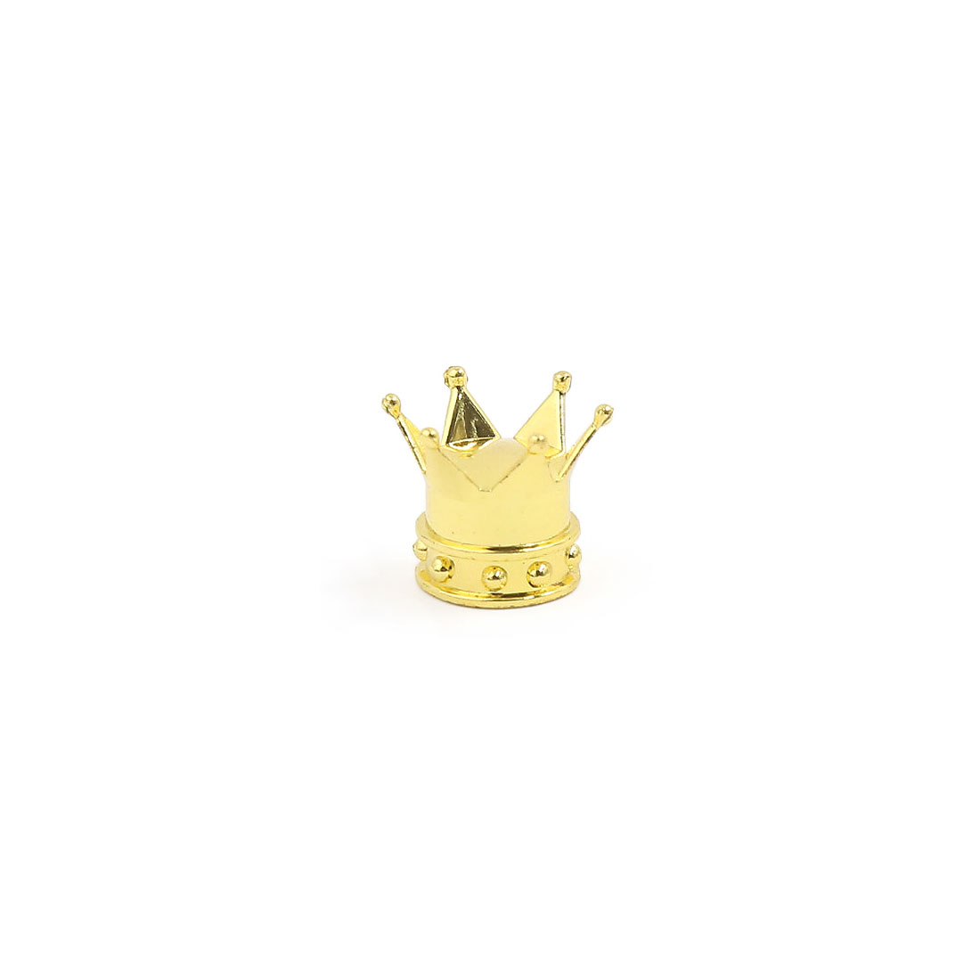 Car Bicycle Motorcycle Crown Shaped Tyre Tire Wheel Stem Air Valve Cap Gold Tone