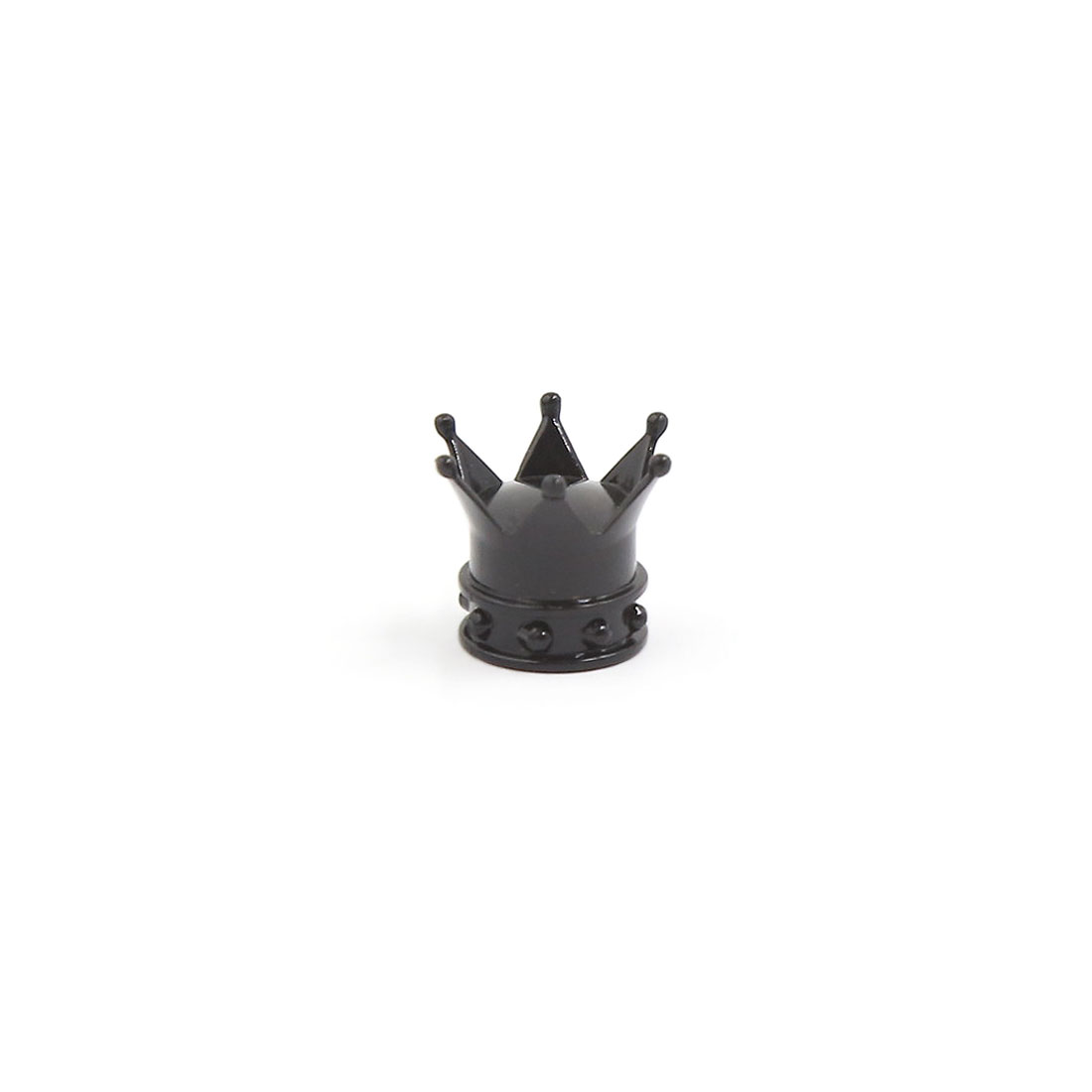 Black Plastic Crown Shape Car Bike Motorcycle Truck Wheel Tire Valve Stem Cap