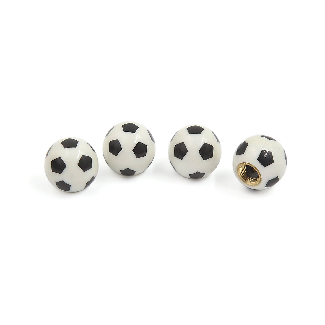 4pcs Football Style Bike Car Motorcycle Tyre Tire Wheel Valve Dust Caps Covers